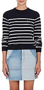 "Maison Labiche Women's ""La Vie"" Striped Wool Sweater-Offwht Dkblu"