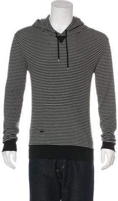 Christian Dior 2007 Bee Embroidered Striped Hoodie