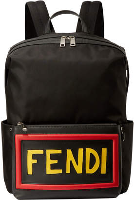 Fendi Nylon Bold Vocab Backpack Bag