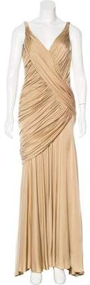 Carmen Marc Valvo Silk Evening Dress