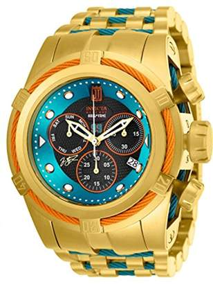 Invicta Men's Jason Taylor Blue Steel Bracelet & Case Swiss Quartz Watch 25308
