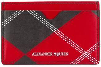 Alexander McQueen plaid cardholder