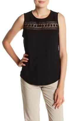 Adrienne Vittadini Crochet Sleeveless Blouse $58 thestylecure.com