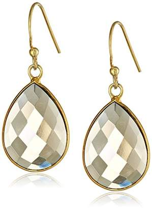 Lapis Gold-Plated Sterling Silver Faceted Smoky Quartz Teardrop Earrings
