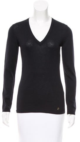 Versace Versace Collection Open Knit V-Neck Sweater w/ Tags