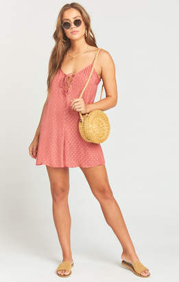 Show Me Your Mumu Rebel Romper ~ Sangria Silky Dots