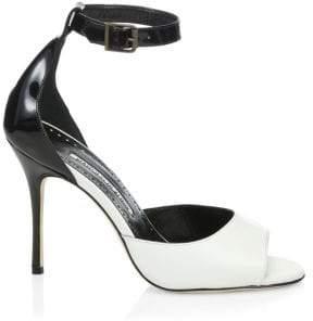 Manolo Blahnik Adecua Leather Sandals