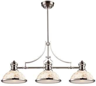 Elk Chadwick 3-Light Island Light With Cappa Shell