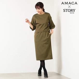 Amaca (アマカ) - アマカ ★★*STORYコラボ*ハイブリットフレンチツイルレイヤードワンピース