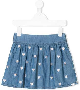 Little Marc Jacobs heart embroidered skirt