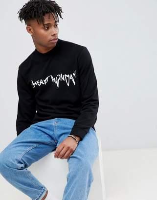 Cheap Monday Droop Logo Sweatshirt Black