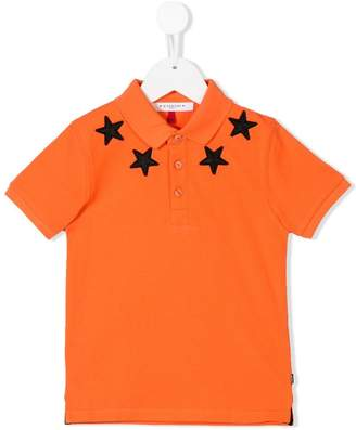 Givenchy Kids star print polo shirt