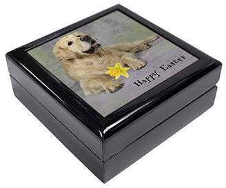 Golden Retriever 'Happy Easter' Keepsake/Jewellery Box Christmas Gift