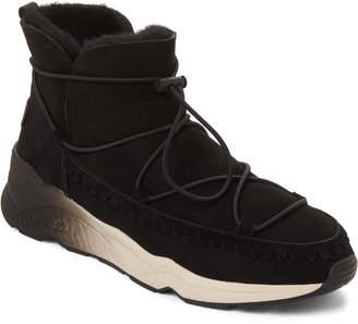 Ash Black Mitshouko Real Fur-Lined Boots