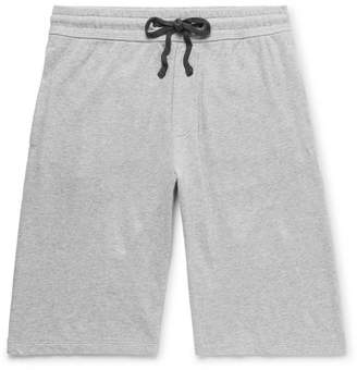James Perse Loopback Cotton-Jersey Drawstring Shorts - Men - Gray