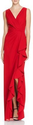 Aidan Mattox Chiffon V-Neck Gown - 100% Exclusive $245 thestylecure.com
