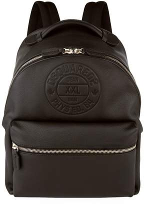 DSQUARED2 Embossed Logo Leather Backpack