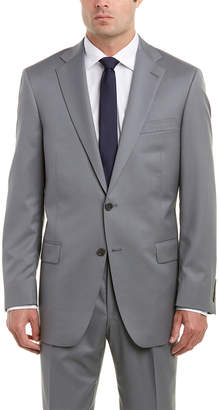 Hart Schaffner Marx Chicago Fit Wool Suit With Flat Front Pant