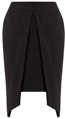 Roland Mouret Pan Draped Overlay Crepe Skirt - Womens - Black