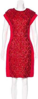 Antonio Berardi Sleeveless Metallic-Accented Dress