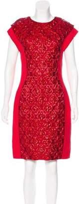 Antonio Berardi Sleeveless Metallic-Accented Dress