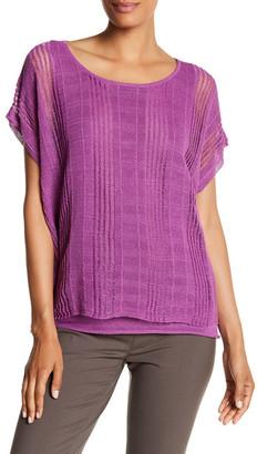 Lafayette 148 New York Drop Stitch Linen Blend Sweater $348 thestylecure.com