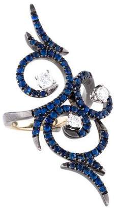Fratelli Staurino 18K Spinel & Diamond Cocktail Ring