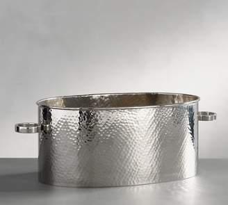 Pottery Barn Hammered Nickel Party Bucket