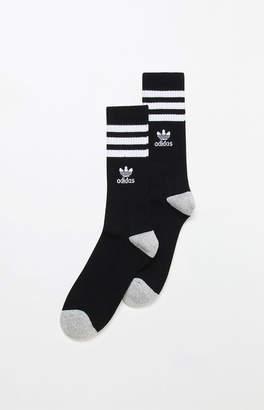 adidas Roller Black & White Crew Socks