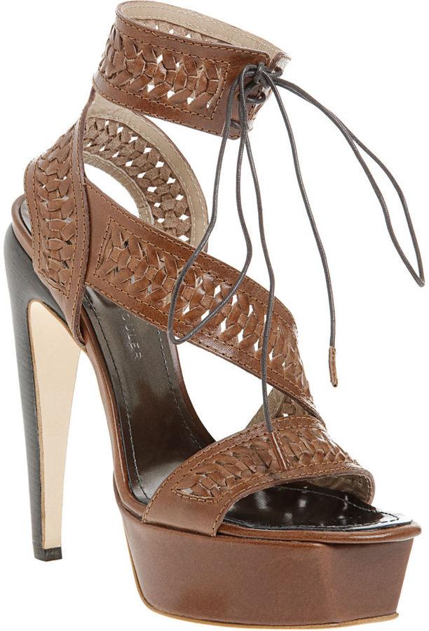 Proenza Schouler Woven Platform Sandal - Brown