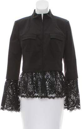 Intermix Lace Embroidered Long Sleeve Jacket
