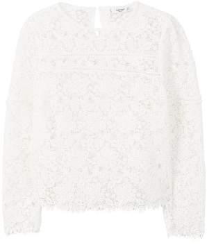 MANGO Floral guipure blouse