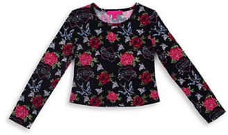 Betsey Johnson Girls 7-16 Floral Top $32 thestylecure.com