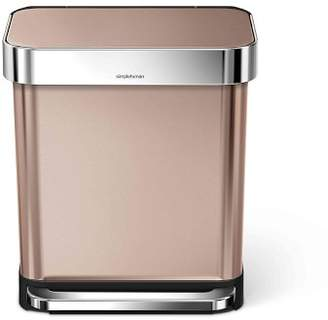 Williams-Sonoma Williams Sonoma simplehumanTM; Rectangular Step Can with Liner Pocket, Rose Gold Stainless-Steel