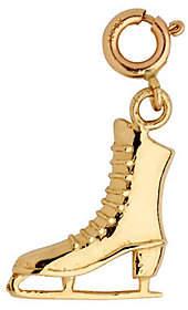 QVC 14K Yellow Gold Ice Skate Charm