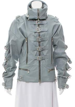 Dolce & Gabbana Leather Buckle-Accented Jacket
