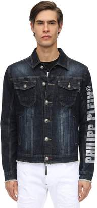 Philipp Plein Embellished Cotton Denim Jacket