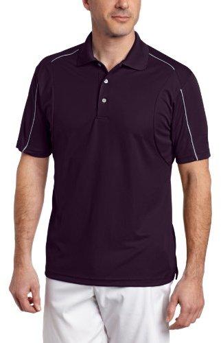 PGA TOUR Men's Short Sleeve Mesh Insert Polo Shirt