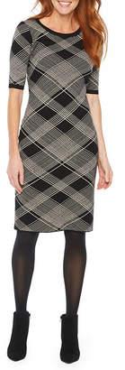 Liz Claiborne Short Sleeve Sweater Dress