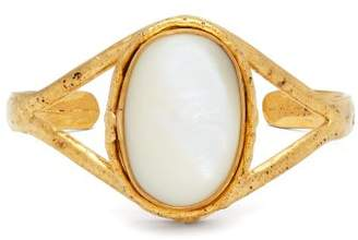 Sylvia Toledano - Gold Brass And Mother Of Peal Bangle - Womens - Pearl