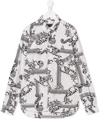 Versace TEEN printed shirt