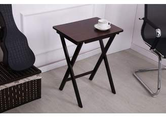 "Ore International 26"" in DARK BROWN WOOD FOLDING TABLE"
