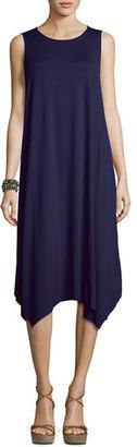 Eileen Fisher Sleeveless Jersey Handkerchief Dress $188 thestylecure.com