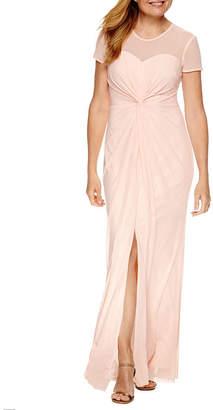 BLU SAGE Blu Sage Short Sleeve Evening Gown-Petite
