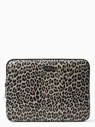 Kate Spade Grove street leopard run wild laptop sleeve