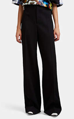 Maison Margiela Women's Wool Twill Wide-Leg Trousers - Black