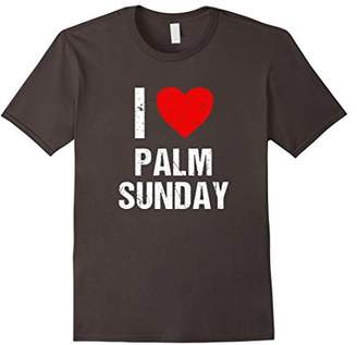 I Love Palm Sunday T Shirt - Distressed Design Tee