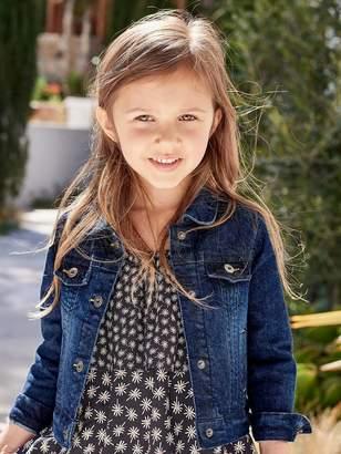 Vertbaudet Girls Denim Stretch Jacket