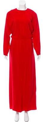 Valentino Long Sleeve Maxi Dress