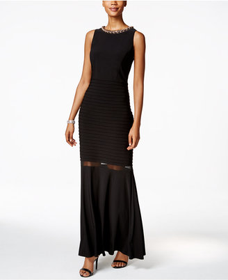 MSK Embellished Illusion-Trim Gown $129 thestylecure.com